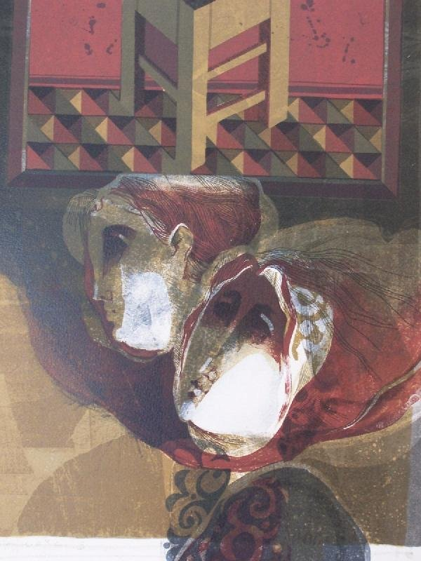 11109: SUNOL ALVAR Signed Litho Spanish Art