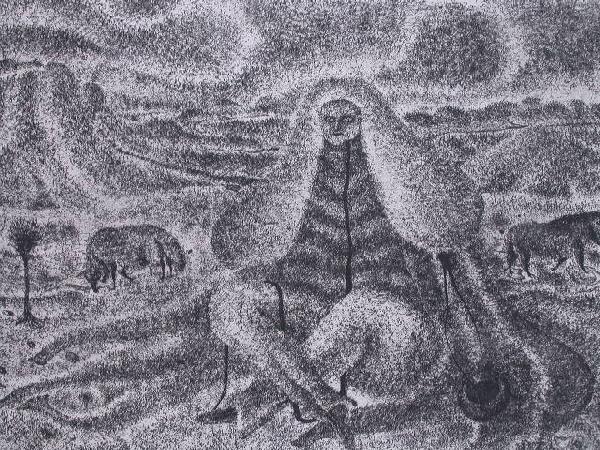 11141: ERICH BRAUER Etching Realism Fantastic