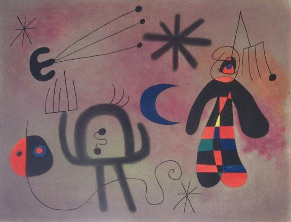 11582: JOAN MIRO H.Signed Etching with Aquatint in Colo