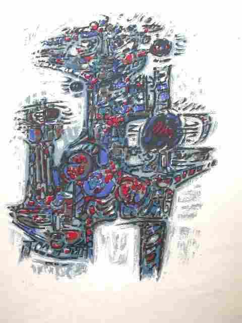16262: GUIGNEBERT Lithograph French Abstarct