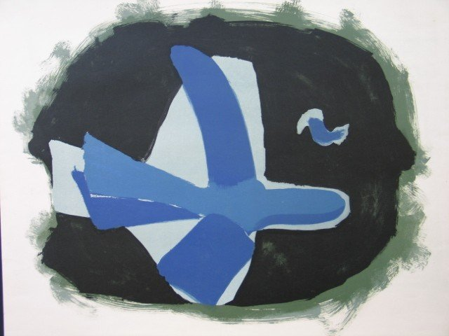 11151: GEORGES BRAQUE Lithograph Poster 1958