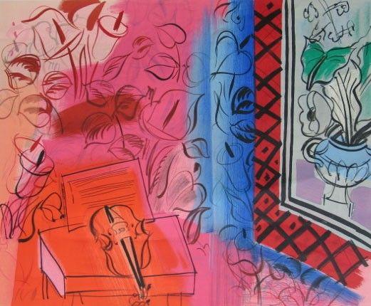 RAOUL DUFY Original Lithograph Poster French Art