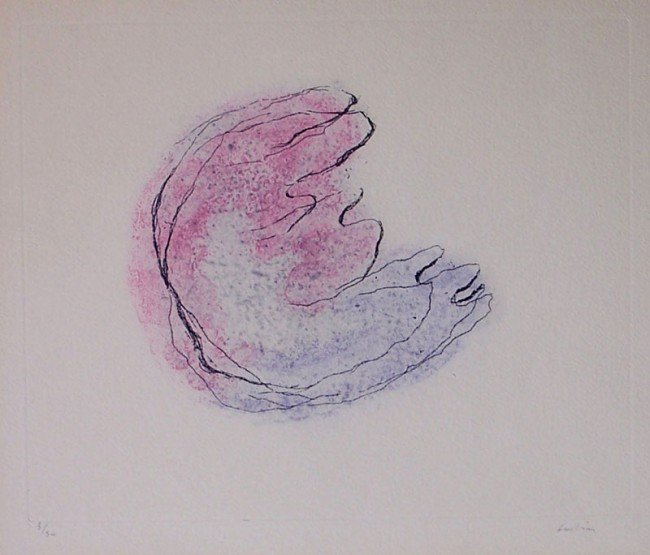 11330: JEAN FAUTRIER Etching French Abstract