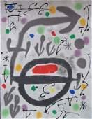 11618: JOAN MIRO Hand Signed Litho Spanish Surrealism