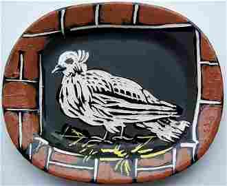 11659: PABLO PICASSO Original Ceramic Plate Dove 1948