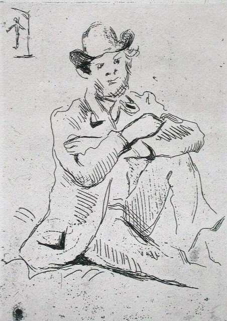 11157: PAUL CEZANNE Original Etching 1906 Impressionism
