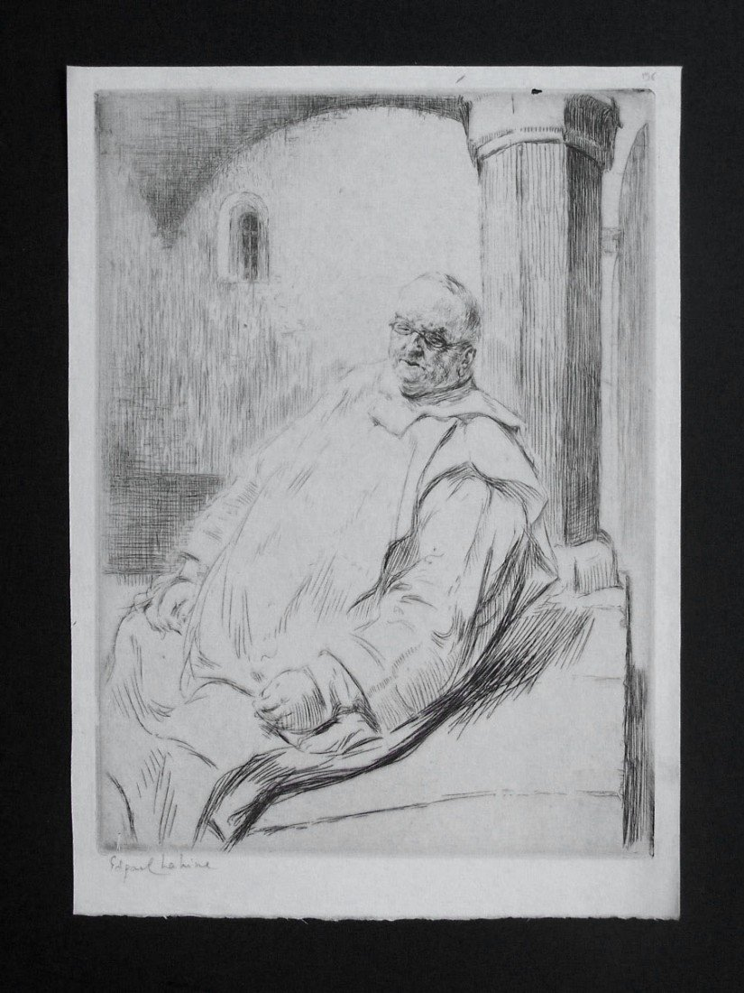 11160: EDGAR CHAHINE H.Signed Etching Armenian 1906