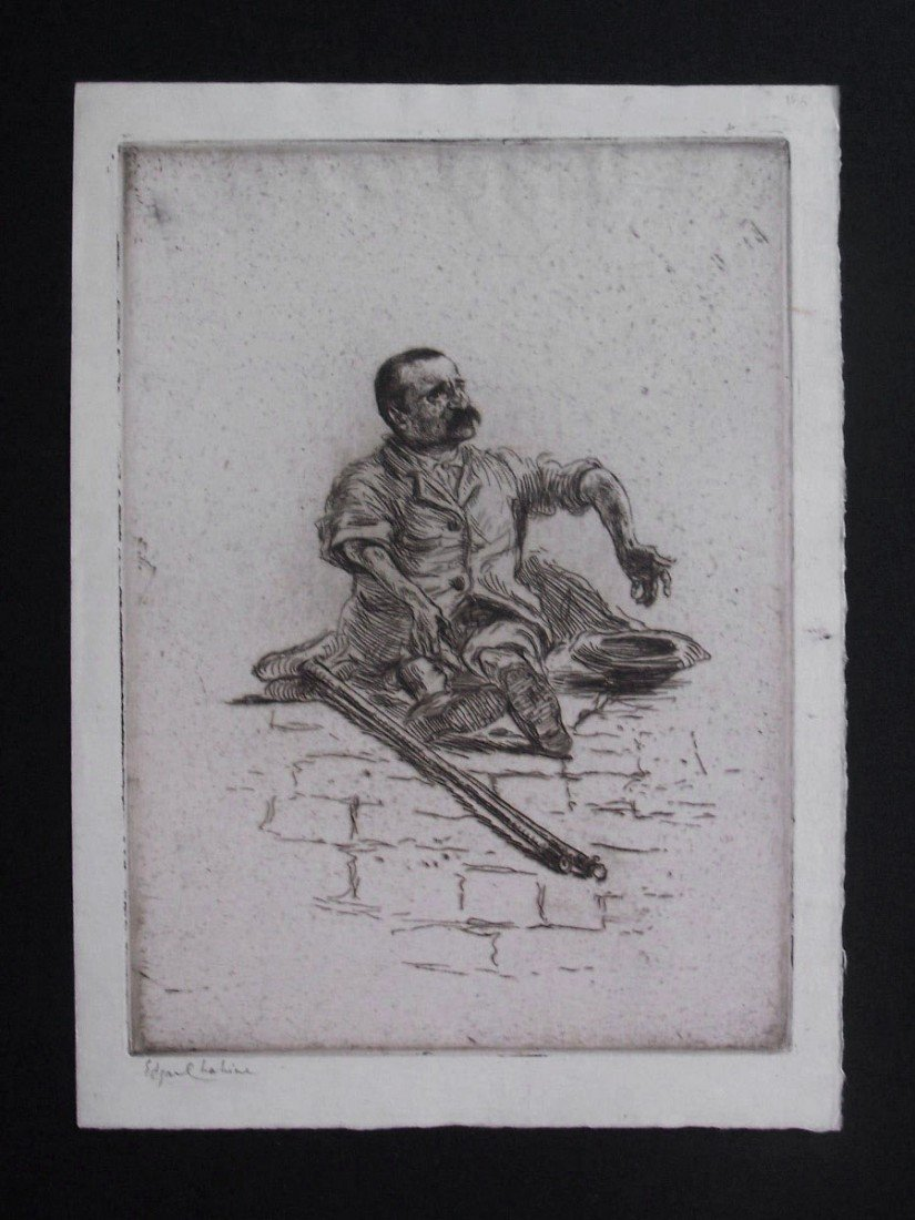 11162: EDGAR CHAHINE H.Signed Etching Armenian 1906