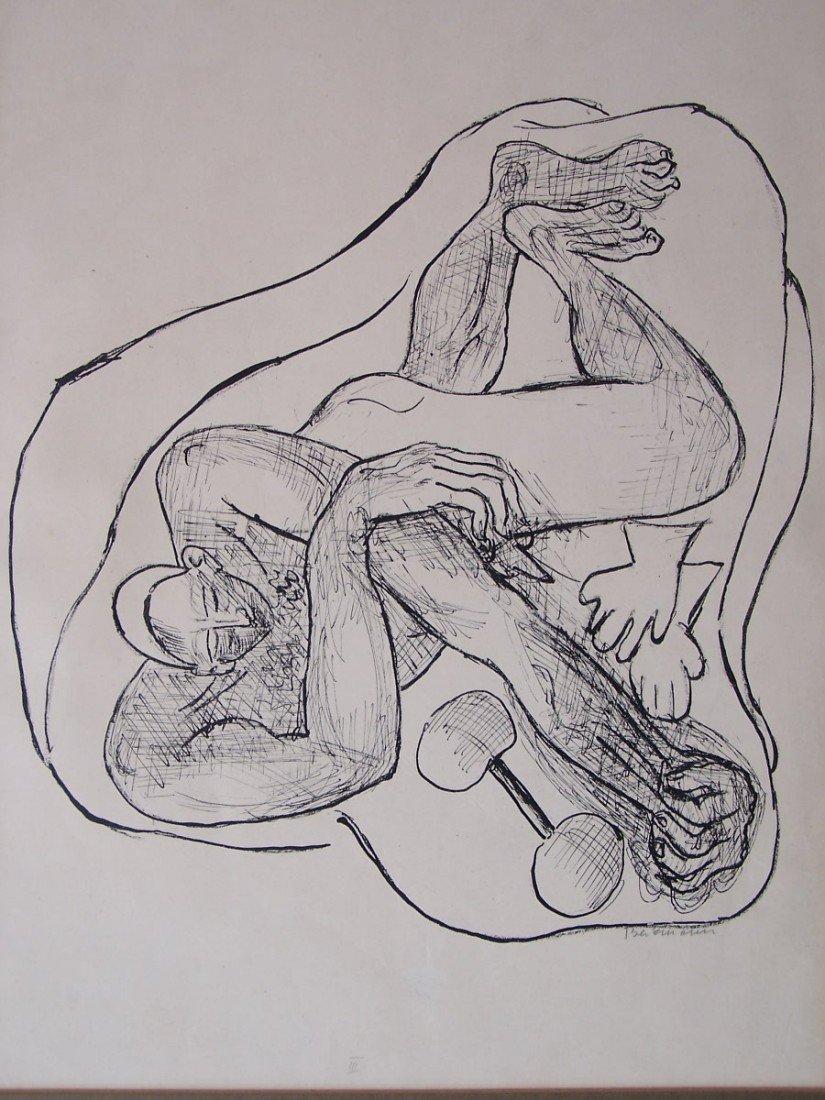 11131: MAX BECKMANN H.S Litho German Expressionism