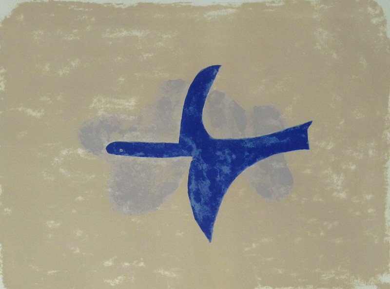 11136: GEORGES BRAQUE Hand Signed Lithograph Birds 1958