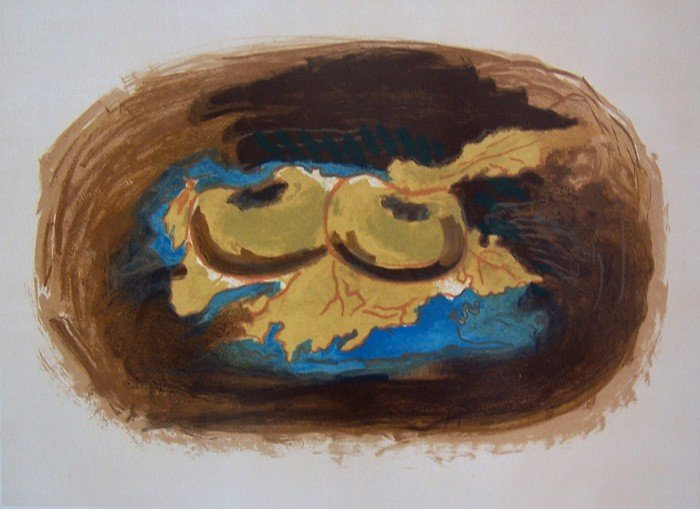 11148: GEORGES BRAQUE H.Signed Lithograph Cubism