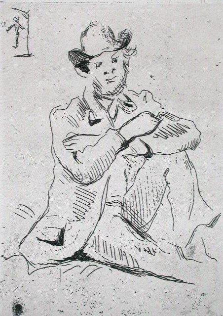11157: PAUL CEZANNE Original Etching 1906 Impressionism