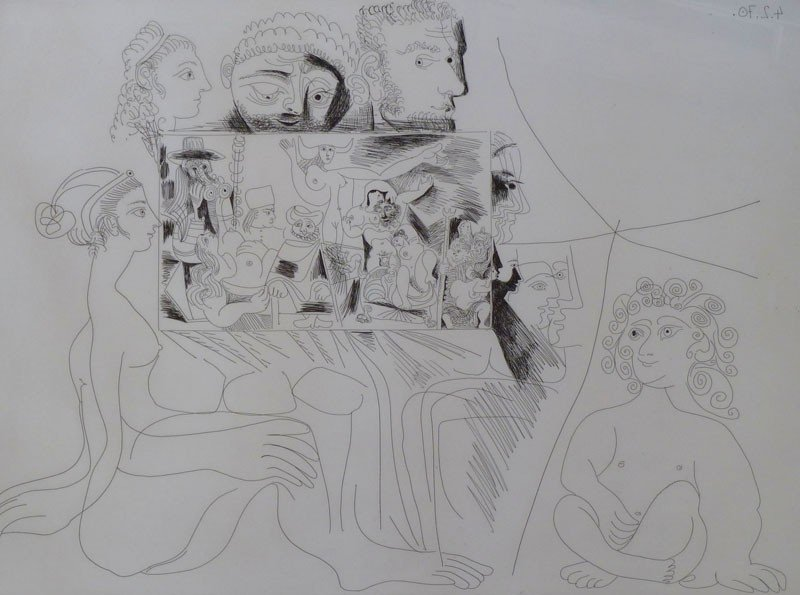11652: PABLO PICASSO Signed Etching Spanish
