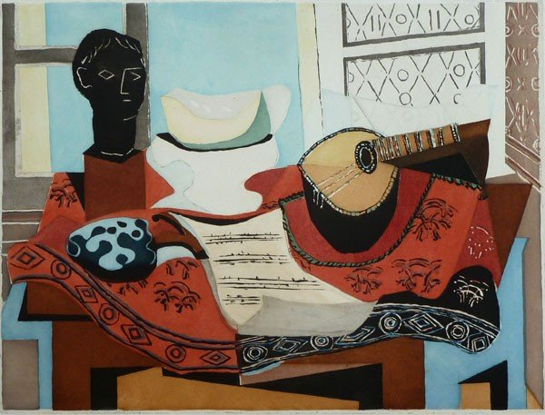11656: PABLO PICASSO Signed Aquatint 1927 Still life