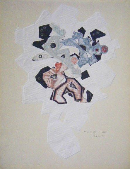 11135: PAOLO BONI Carborundum Italian Abstract 1974