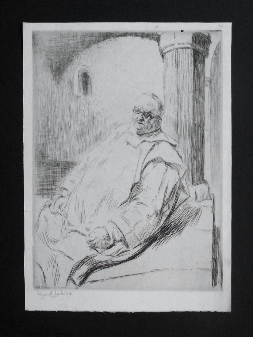 11160: EDGAR CHAHINE H.Signed Etching Armenian 1906