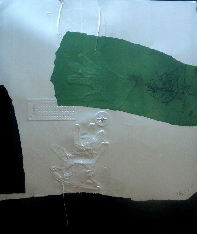 11171: ANTONI CLAVE Gravure on Aluminium with Collage S