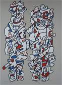 11281 JEAN DUBUFFET Hand Signed Silkscreen French 1974