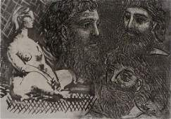 11658 PPICASSO Hand Signed Etching Vollard Suite