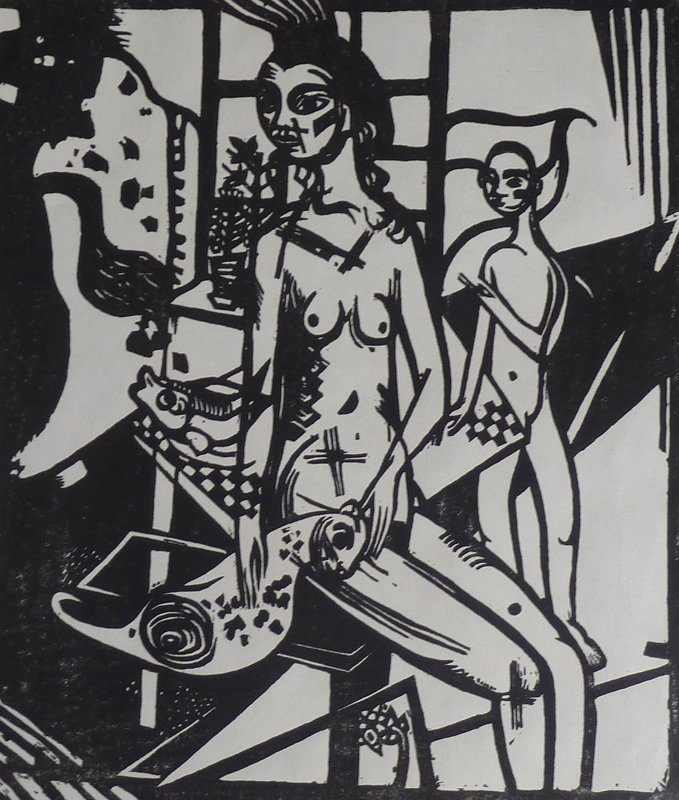 11231: HEINRICH CAMPENDONK Hand Signed Woodcut Expressi