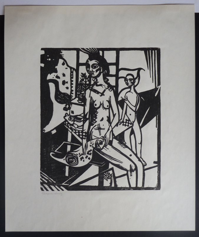 11231: HEINRICH CAMPENDONK Hand Signed Woodcut Expressi - 2