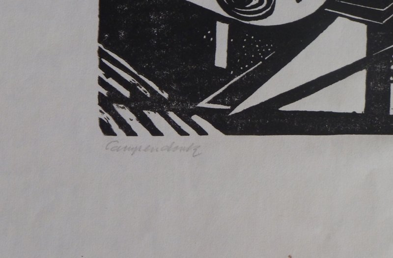 11231: HEINRICH CAMPENDONK Hand Signed Woodcut Expressi - 3