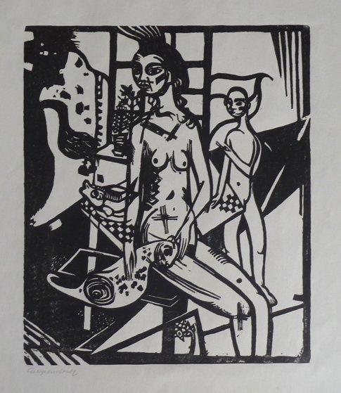 11231: HEINRICH CAMPENDONK Hand Signed Woodcut Expressi - 5