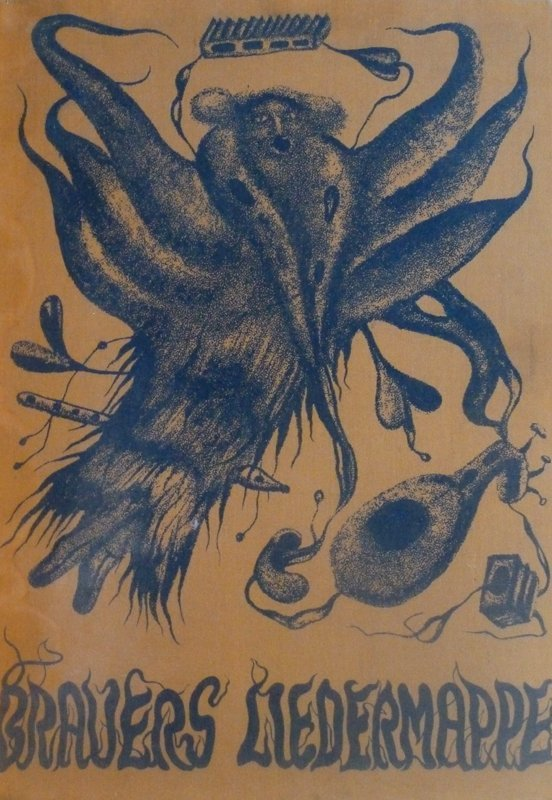 ERICH BRAUER 10 Hand Signed Etchings Austrian Surrealis