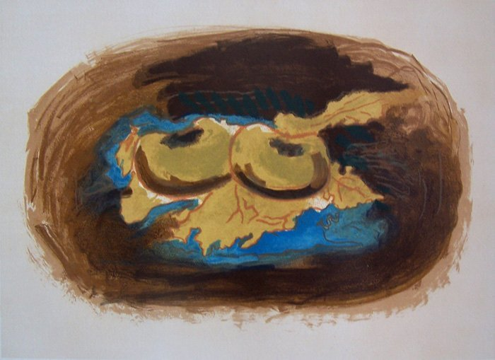 GEORGES BRAQUE H.Signed Lithograph Cubism