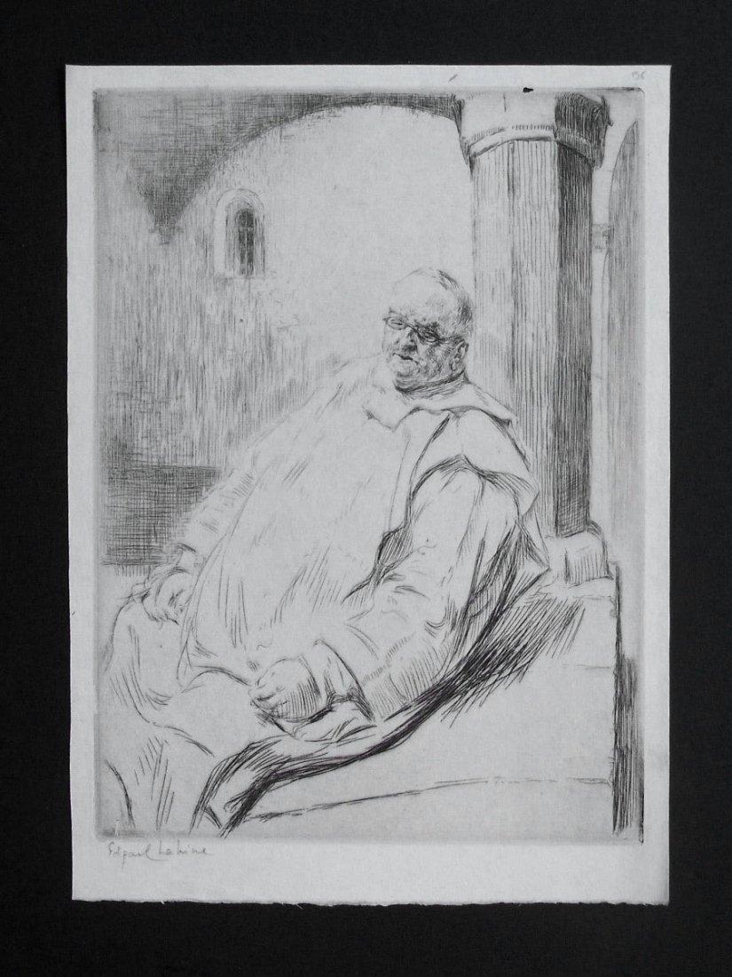 EDGAR CHAHINE H.Signed Etching Armenian 1906