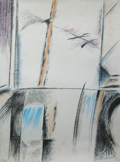 RAFOLS CASAMADA Signed Litho Spanish Art 1975 Abstract