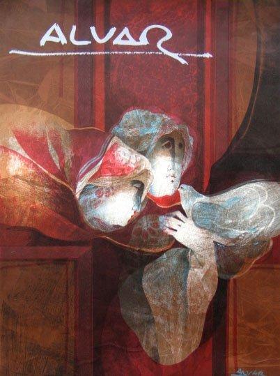 SUNOL ALVAR Signed Litho Spanish Art