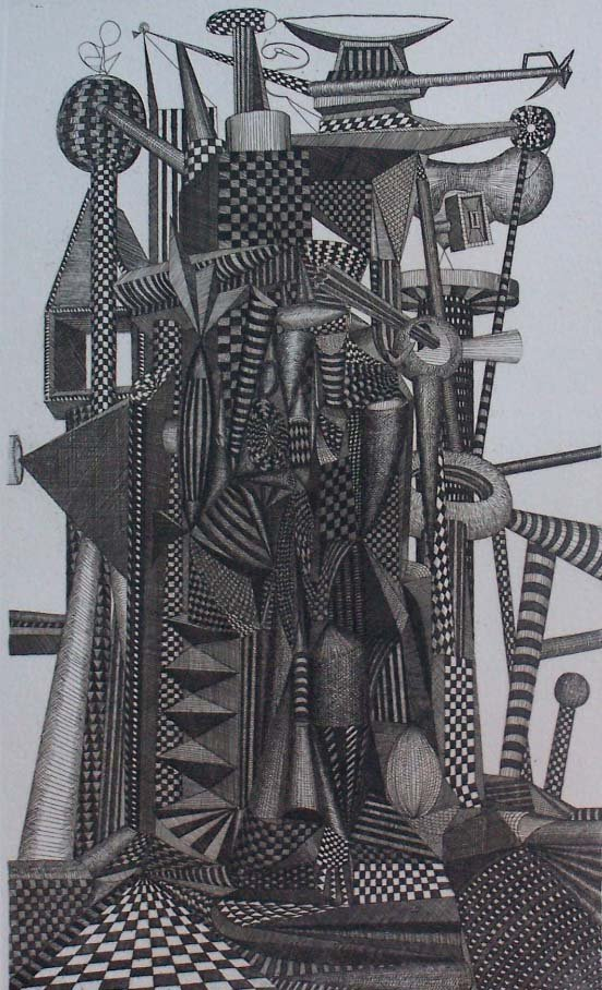 ROLAND CABOT S.Etching Brasilian Abstract