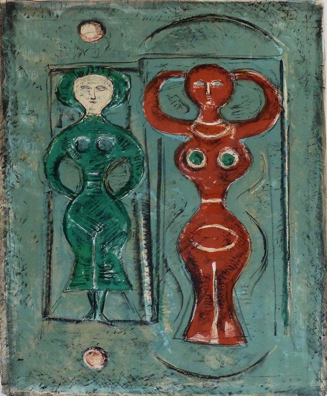 MASSIMO CAMPIGLI Hand Signed Lithograph Italian Art