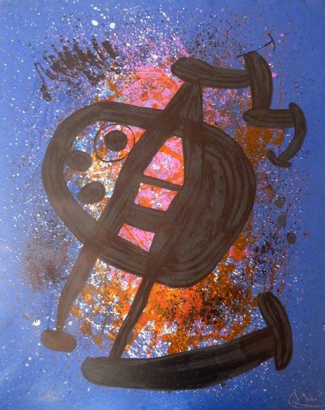 JOAN MIRO H.Signed Lithograph Spanish Surrealism