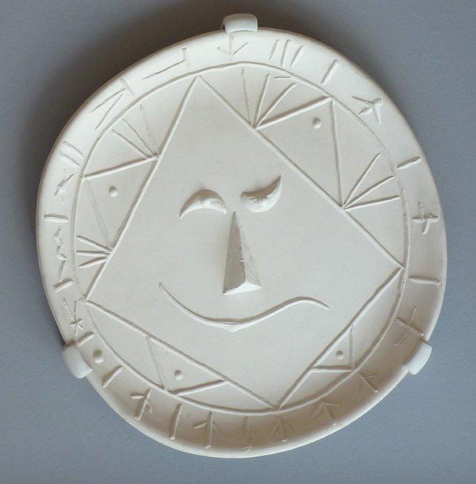 PABLO PICASSO Original Ceramic Plate Madoura Spanish