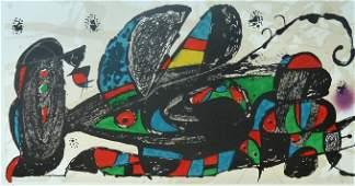 JOAN MIRO Original Lithograph 1974 Surrealism Spanish