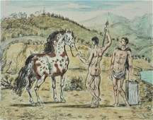 G. DE CHIRICO Hand Signed Lithograph Italian Surrealism