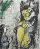 MARC CHAGALL Hand Colored and Signed Etching Bible 1958