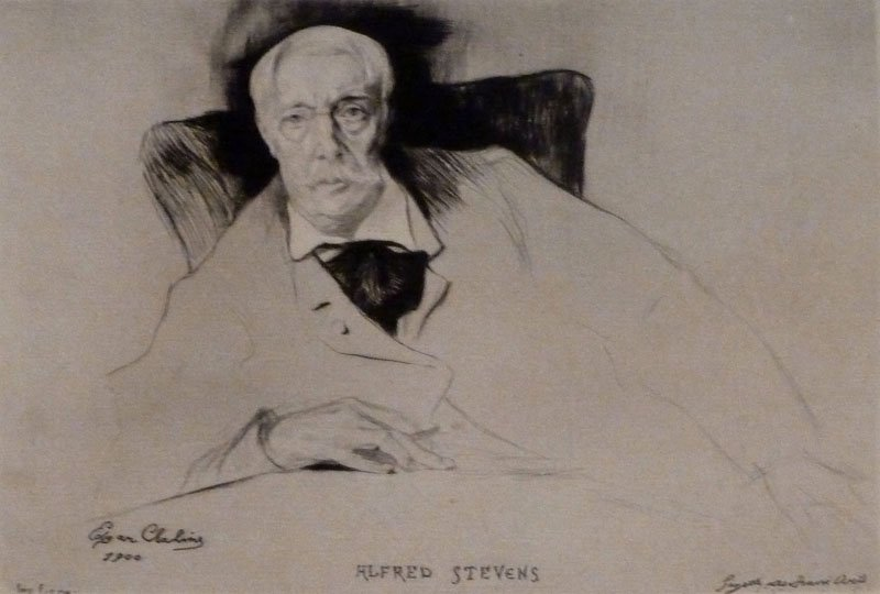 EDGAR CHAHINE H.Signed Etching Armenian 1900 Alfred