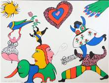 NIKI DE SAINT PHALLE Hand Signed Lithograph 1971 French