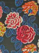 RAOUL DUFY Large Gouache Roses French Impressionism