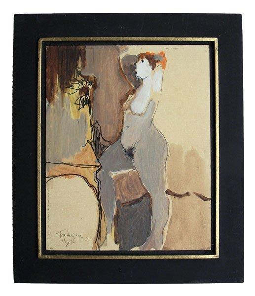 ITZCHAK TARKAY Signed Oil Painting Israeli - 2
