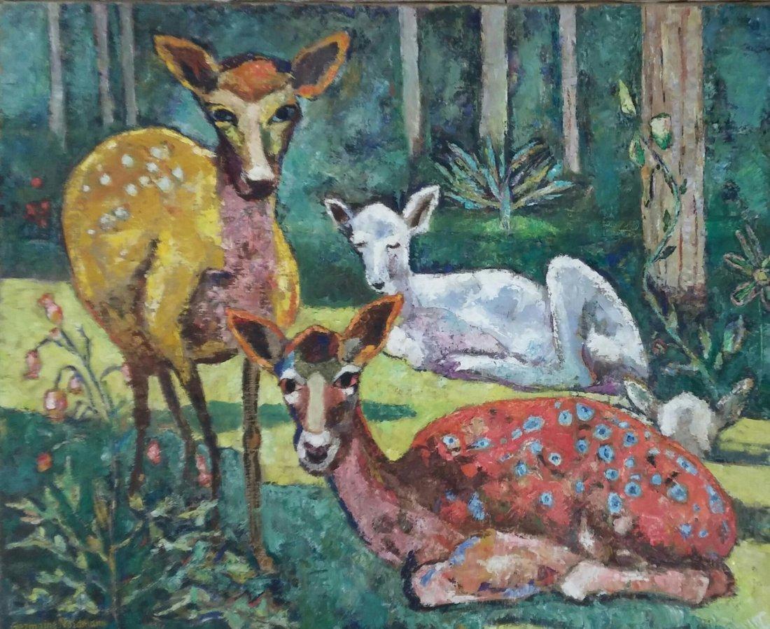 Germaine Nordmann-Signed Painting  Ecole de Paris