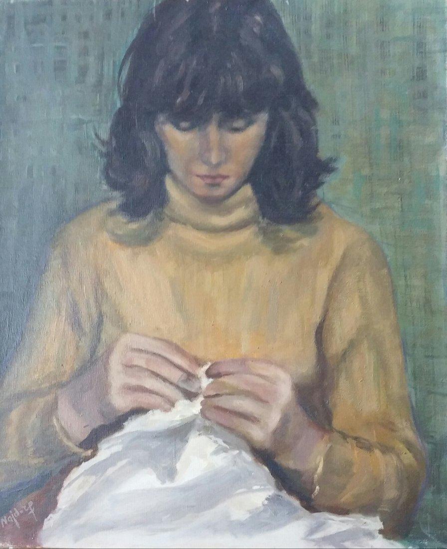 Liba Najdorf Signed Painting Ecole de Paris 20th