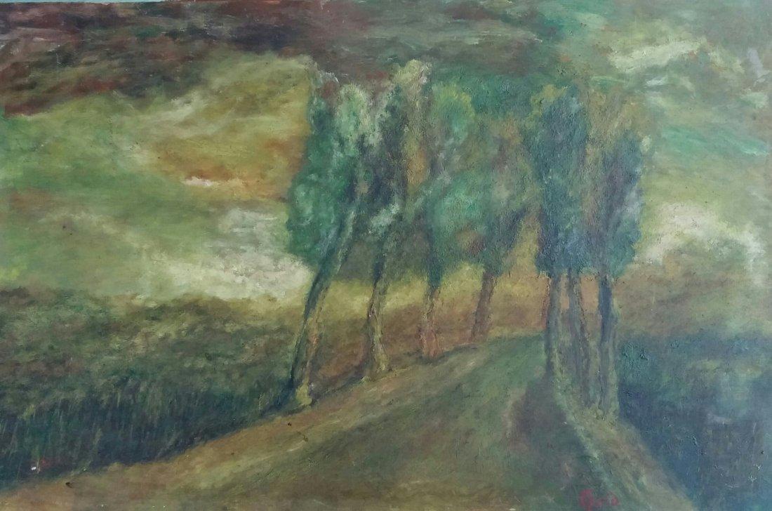 Yitzhak FRENKEL-FRENEL Signed Painting  Russian French