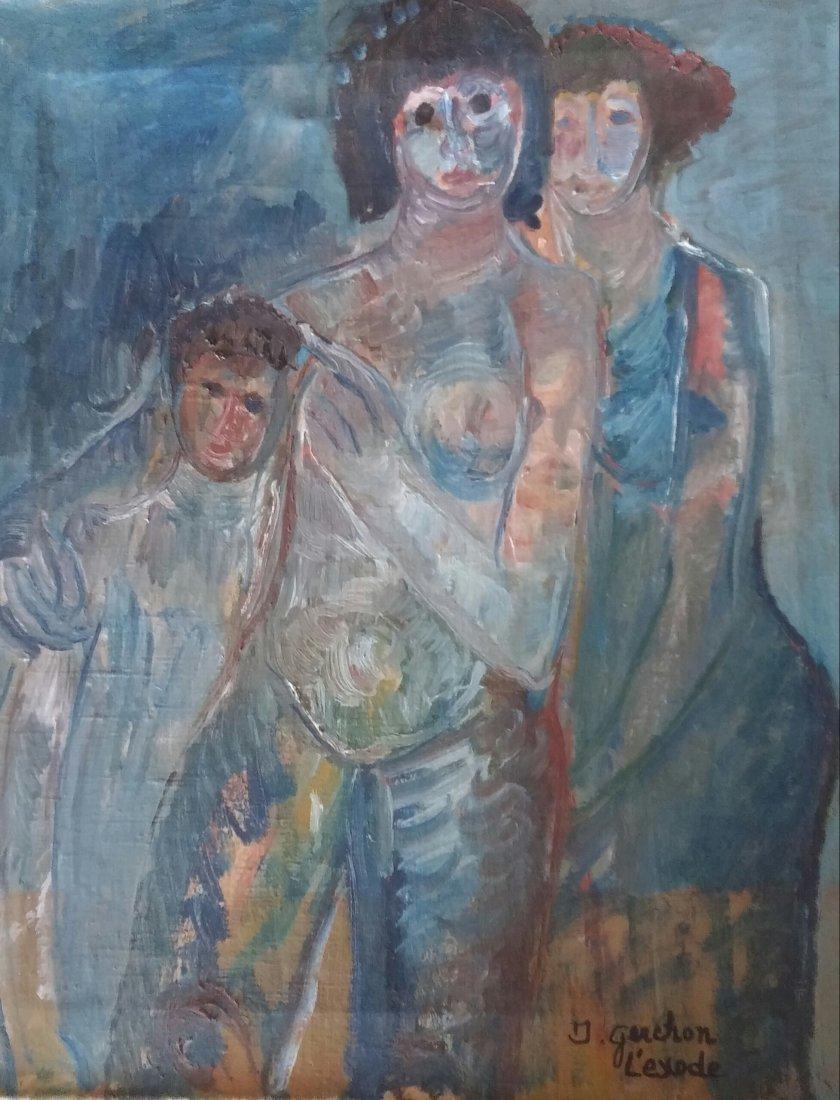 ISA GUERCHON PERETZ Signed Painting Bulgarian David