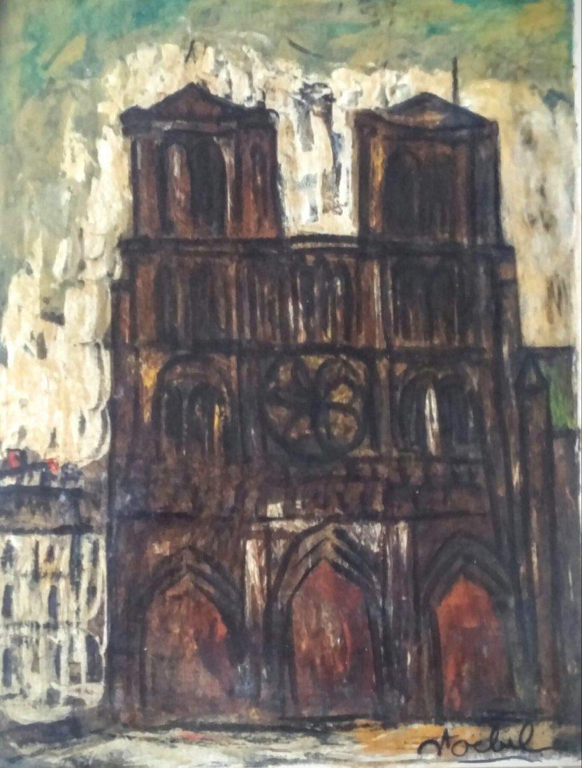 EDGAR STOEBEL Signed Oil Painting French Ecole de Paris