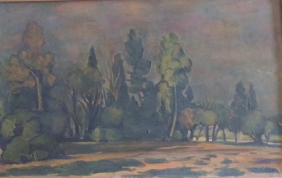 MICHEL ADLEN Signed Painting Russian French Ecole de