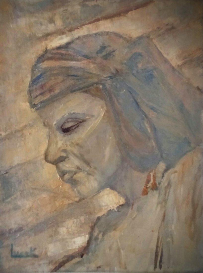 LUCEK Signed Painting Polish French Ecole de Paris